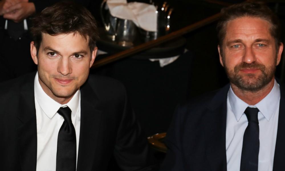 Ashton Kutcher and Gerard Butler Israel