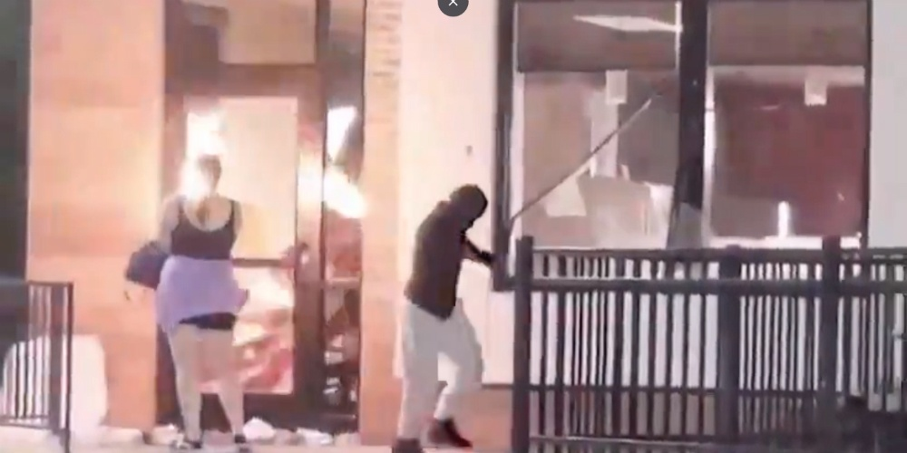 Suspected Antifa 'white girl in pink' started Atlanta Wendy's fire