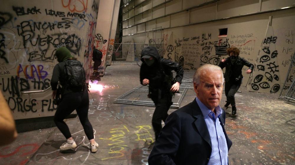 Joe Biden's peaceful protesters are destroying America