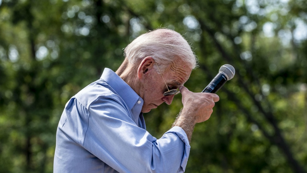 Nurses breathing in his nostrils is up there among strangest Joe Biden sound bites