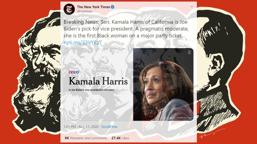 Destroying mainstream media's 'pragmatic moderate' narrative about Kamala Harris