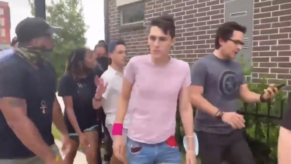 BLM 'activists' throw bottles, steal property from Trump supporters during Brandon Straka's #WalkAway event