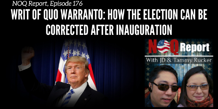 Writ of quo warranto: How the election can be corrected AFTER inauguration